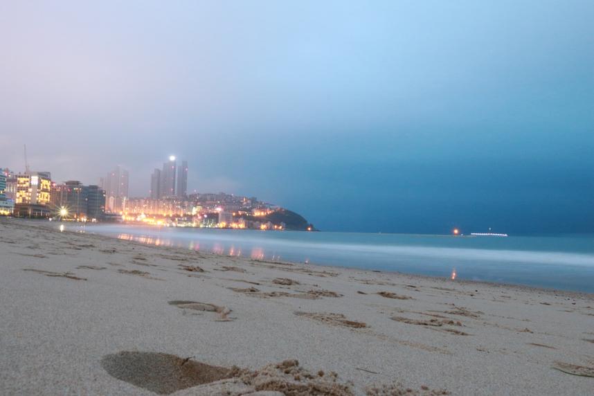 清晨的海云台